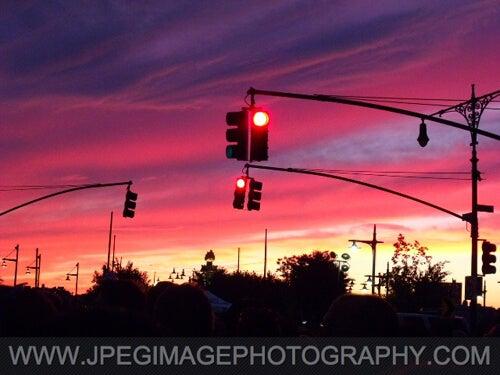 Sunset and Street Corner