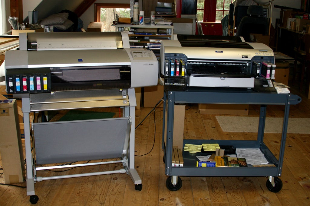 Two printers.