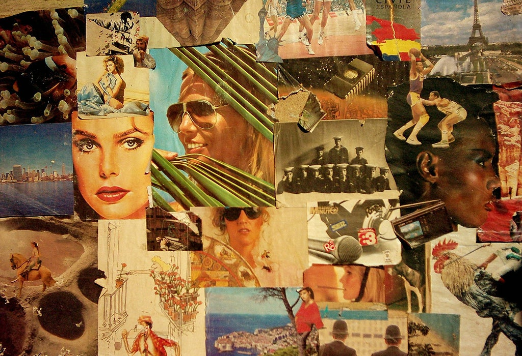 An eclectic collage.