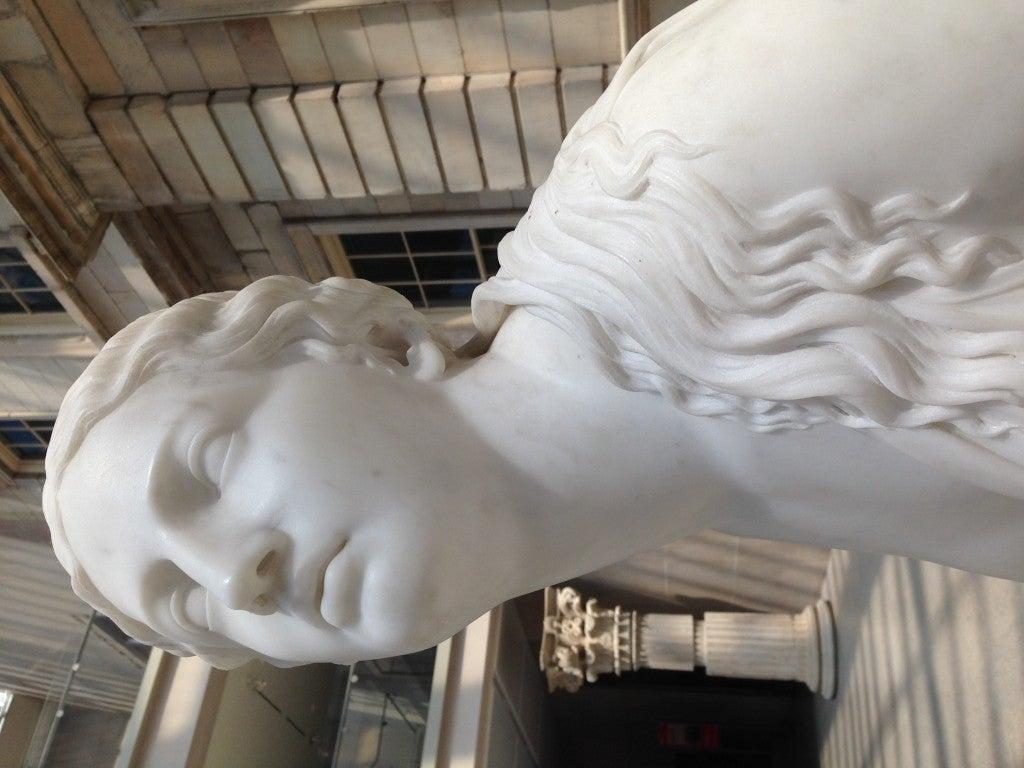 A sculpture in a museum.