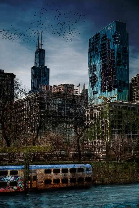 Post Apocalyptic Chicago 01 blue 72