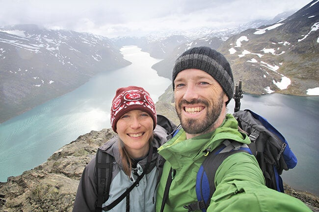 couple taking selfie on spring break