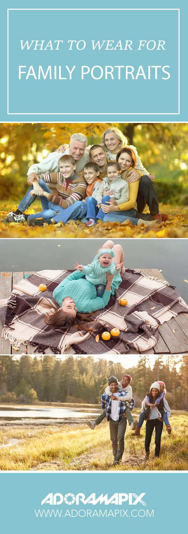 what to wear for family portraits adoramapix