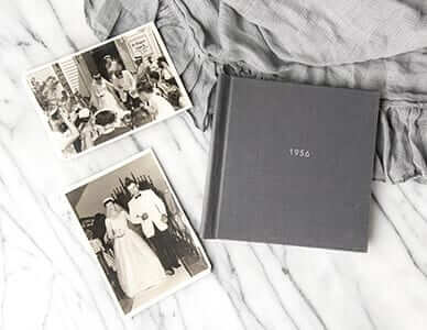 wedding photo book restored