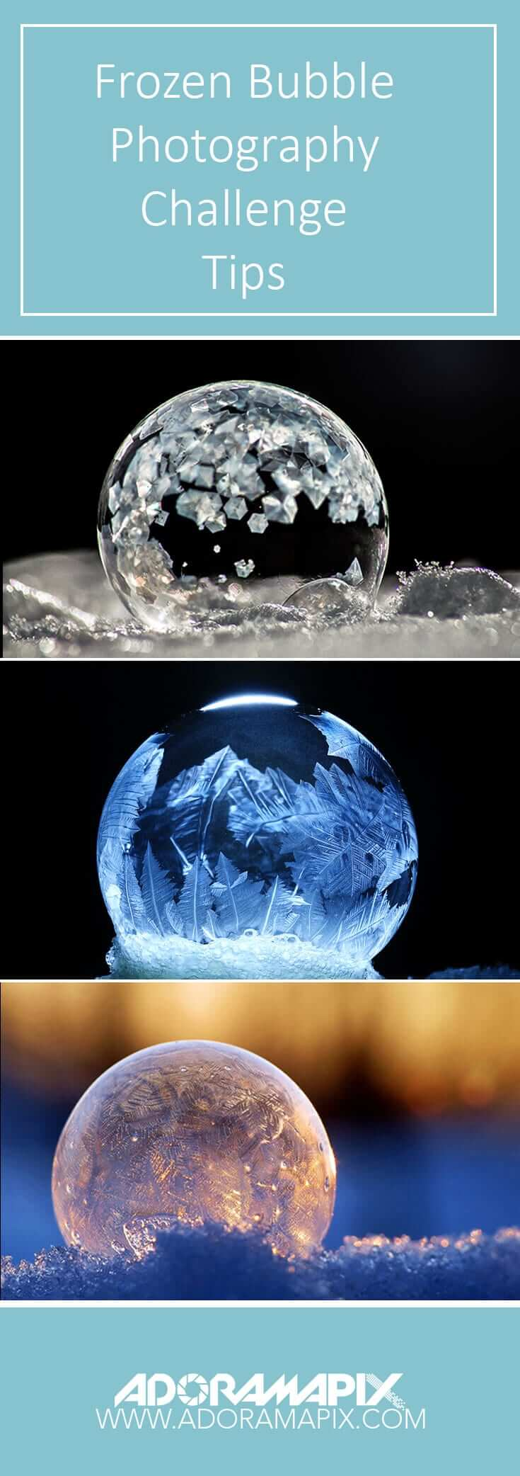 frozen bubble photography challenge
