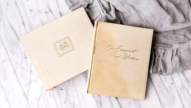 wedding photo book restoration