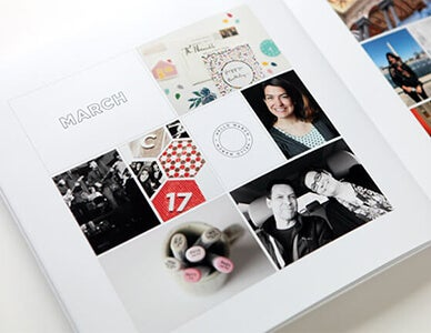 year in review photo book produced by adoramapix
