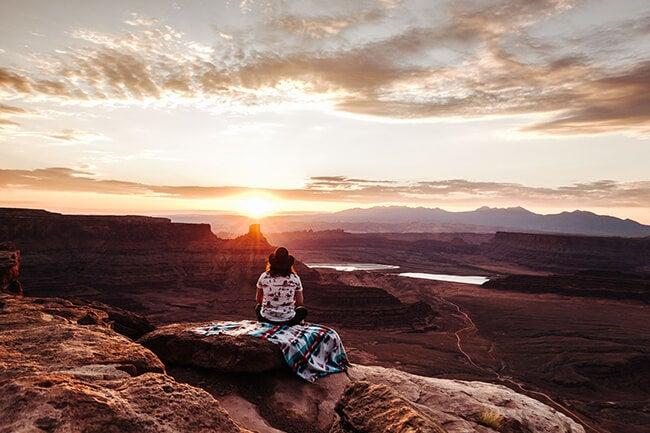 landscape photograph with woman