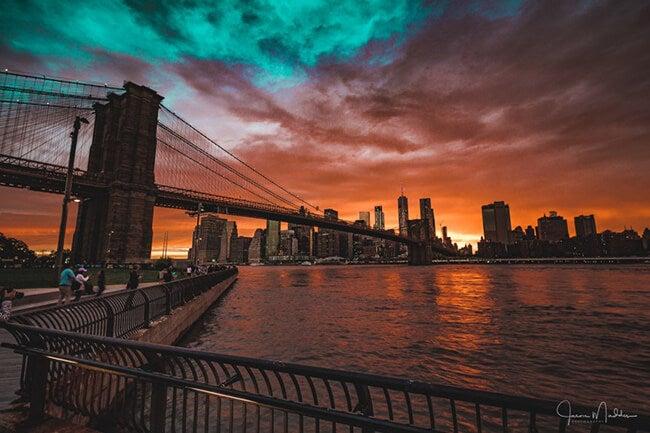 Brooklyn bridge park sunset