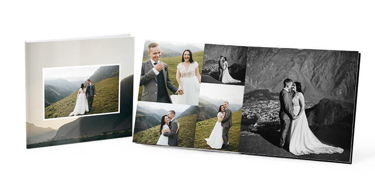 Hardcover Albums with Full Cover Photos - AdoramaPix