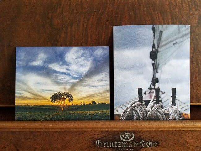two color fine art prints produced by Printique