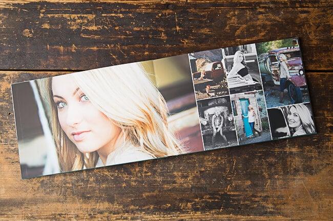 senior girl photo book produced by adoramapix