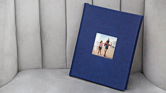 premium metal cover photo album manufactured by Printique