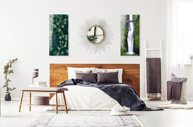 bedroom gallery wall by printique