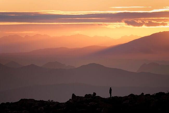 sunset landscape photo
