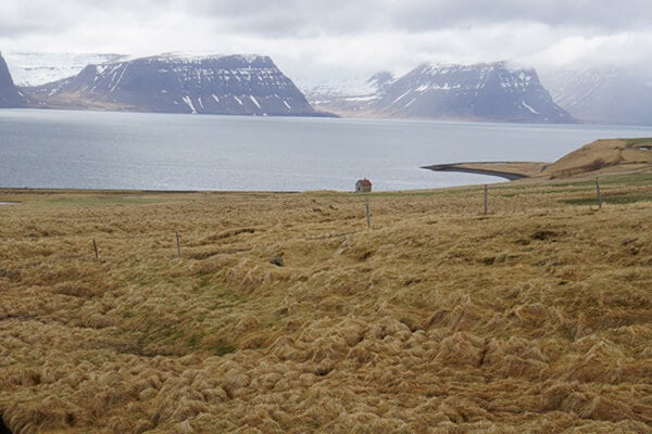 flat unprocessed picture of landscape