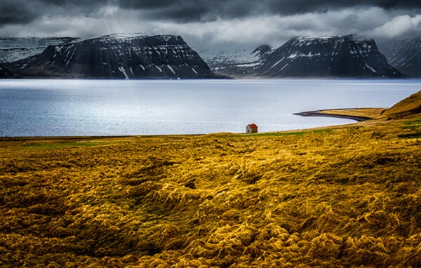 Post-processed picture of iceland