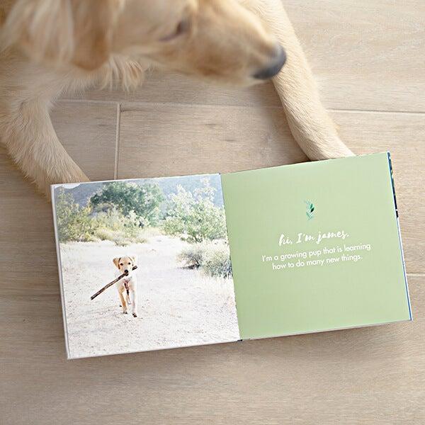 dog photo book manufactured by adoramapix