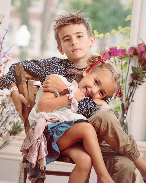 brother sister photograph