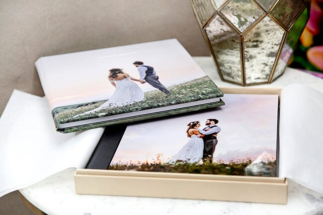 wedding albums produce by printique