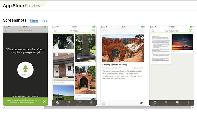photo scanning app screen shot