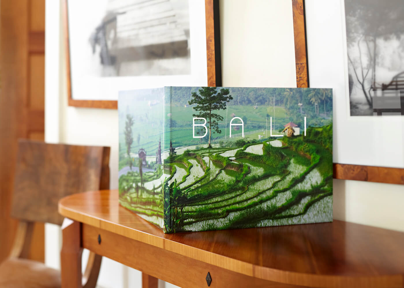 bali book on shelf by printique