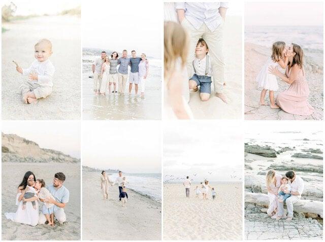 beach portrait collage