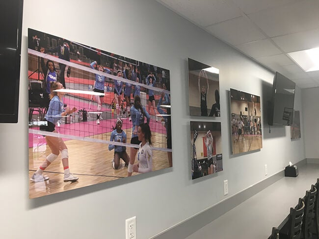 metal prints manufactured by Printique  on wall