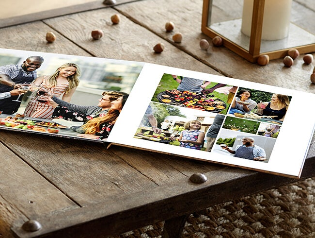 people cooking in photo book by printique
