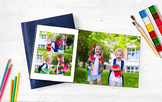 photo book with school children manufactored by adoramapix