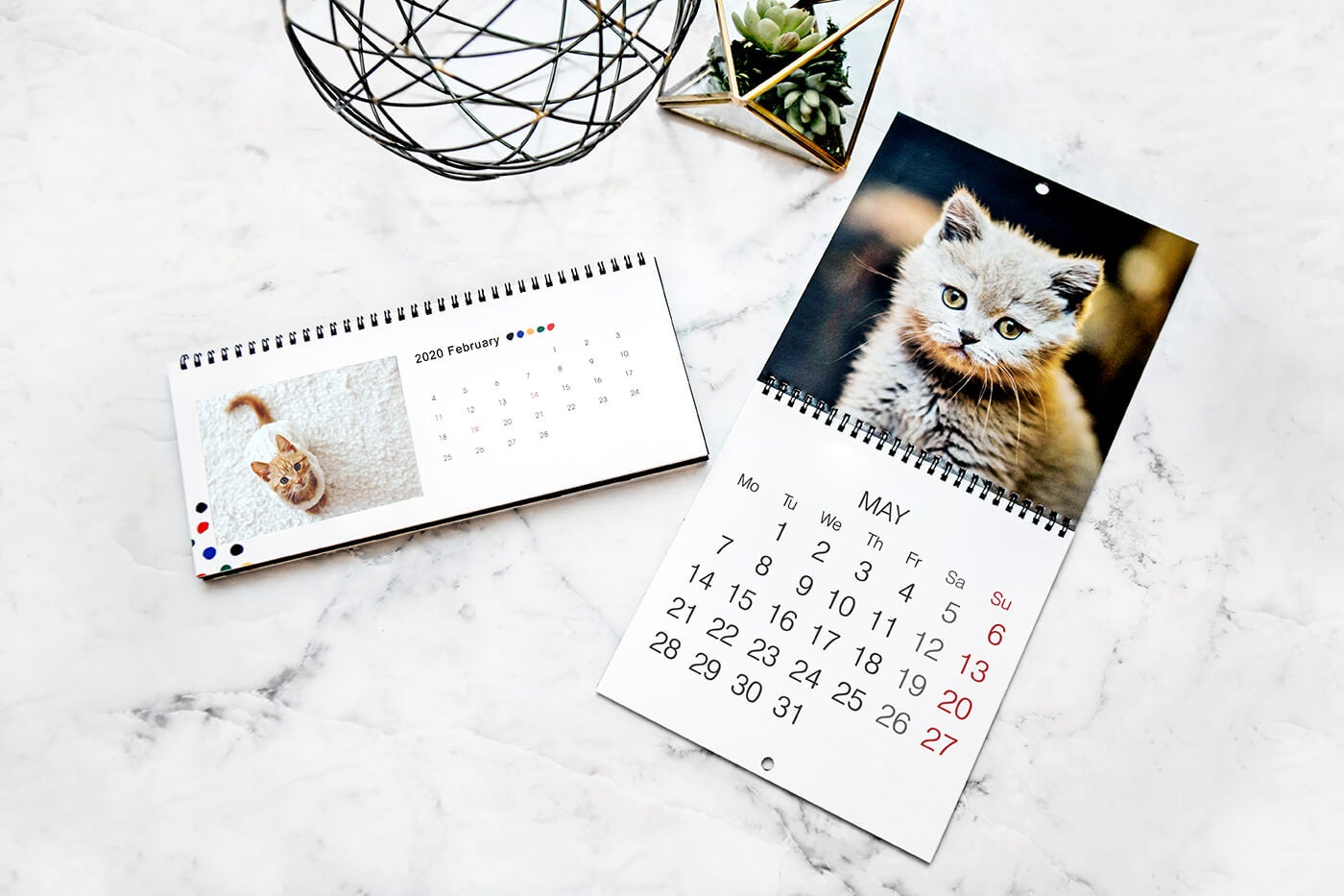 calendars of kittens printed by printique
