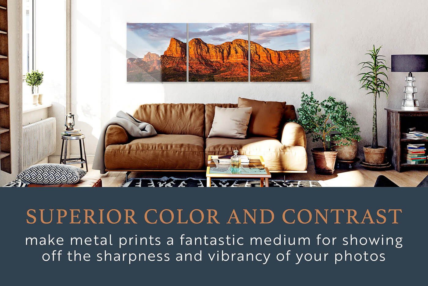 Metal Print Color Contrast
