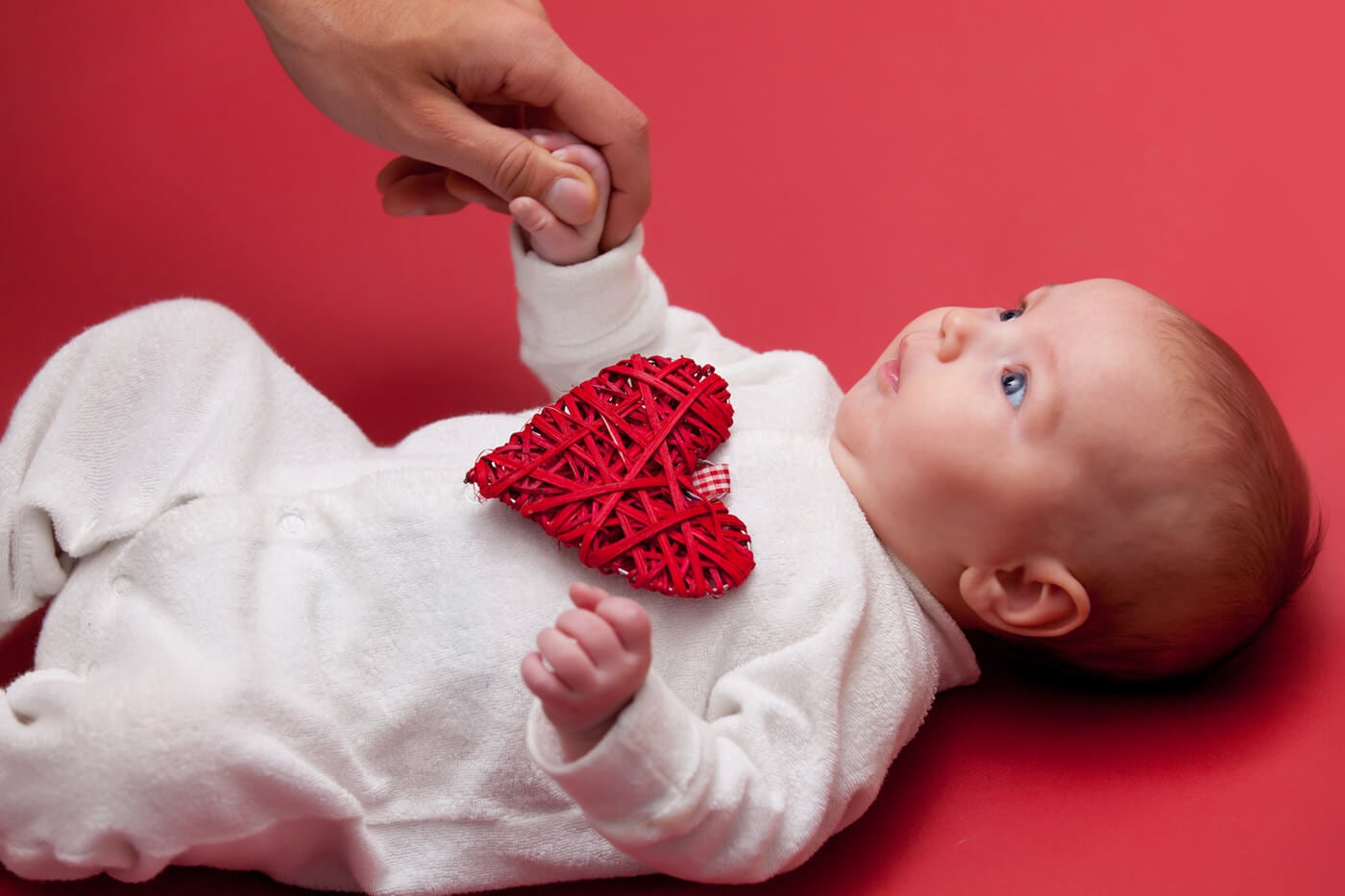 baby holding hands valentines