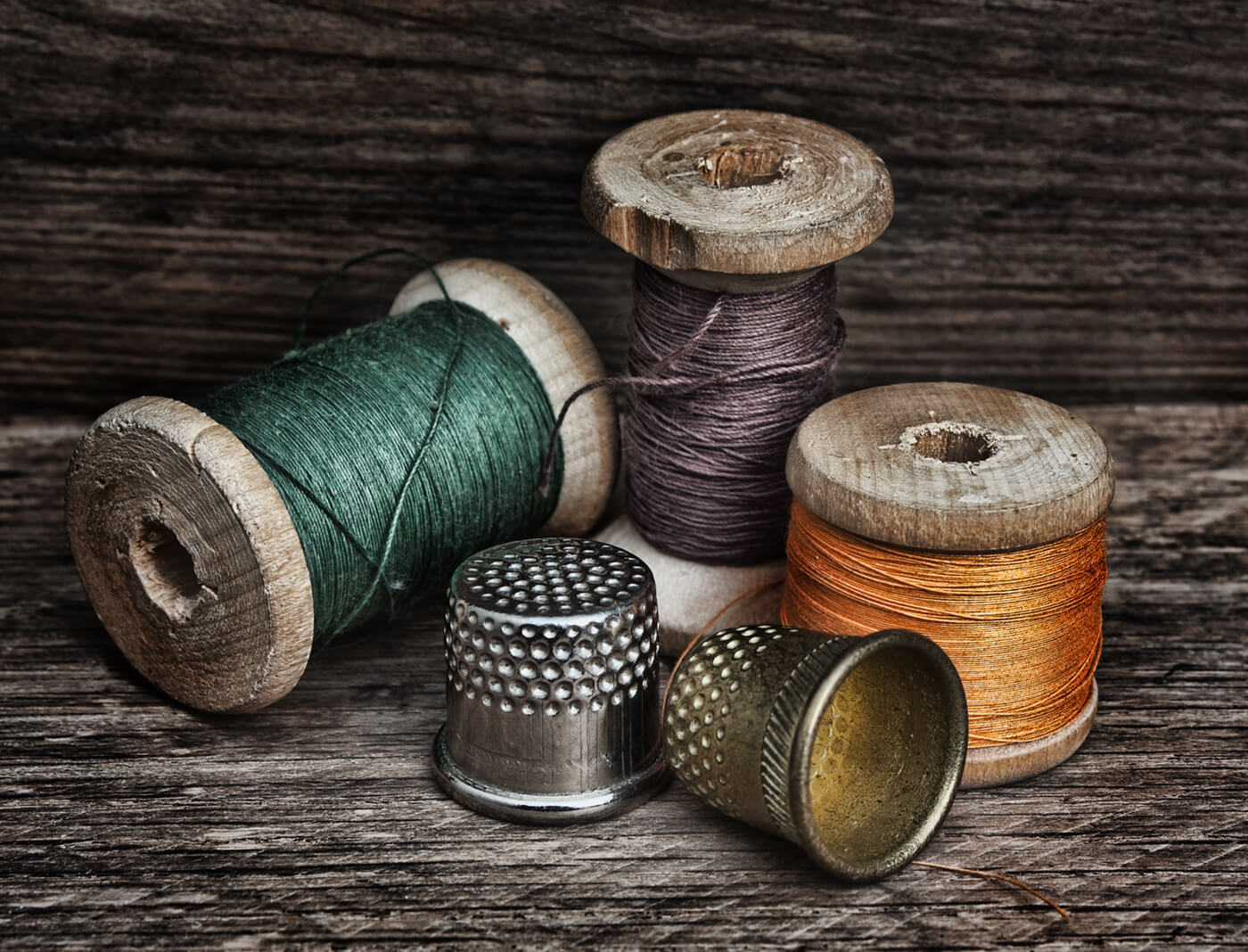 thread and thimble as photo prints